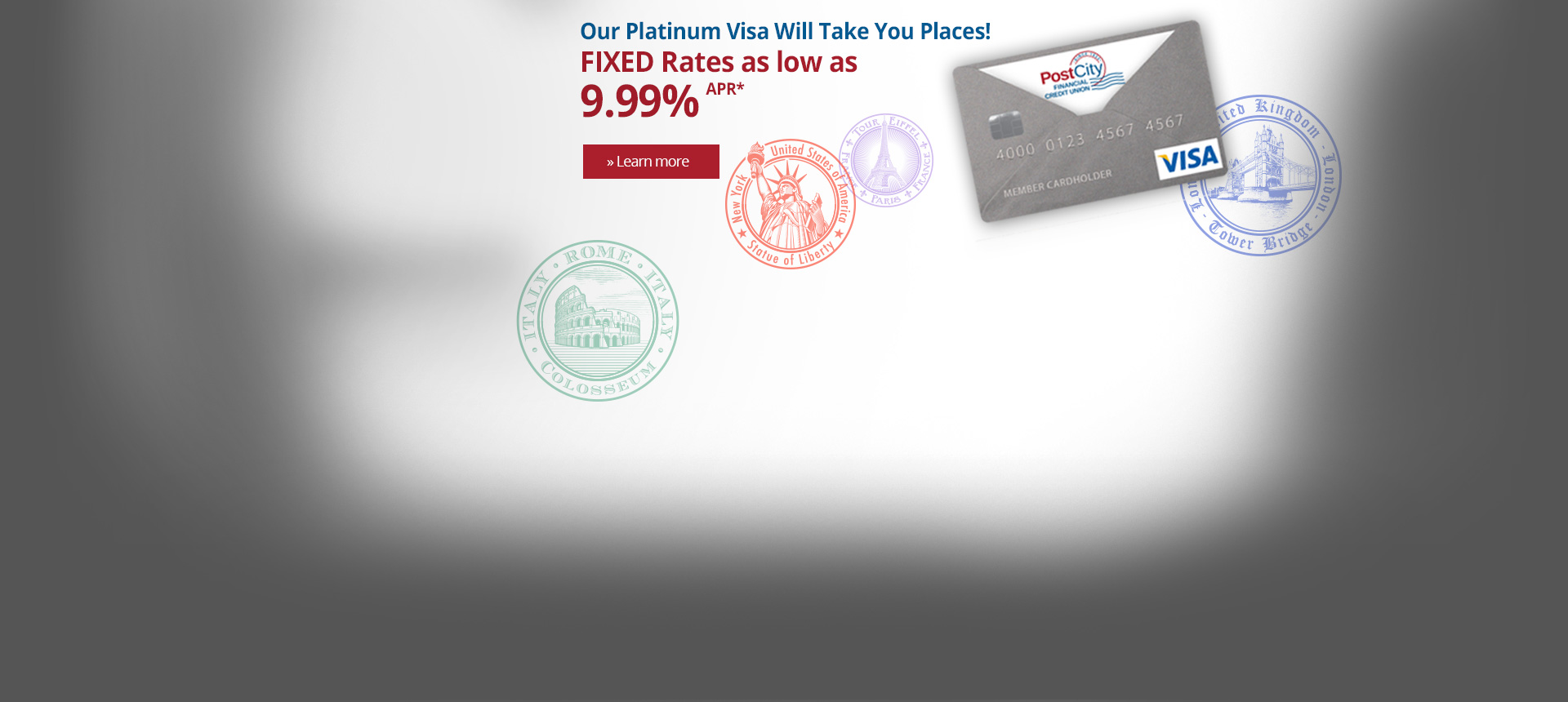 Platinum Visa 2.99% Will Take You Places!